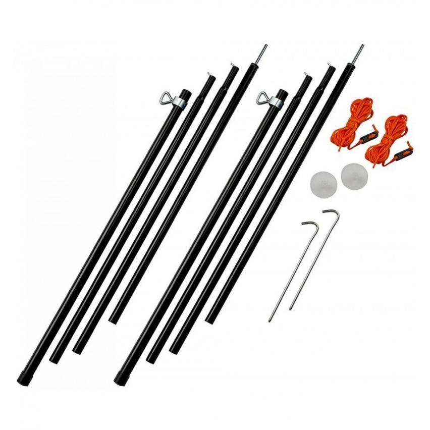 Vango Steel King Poles 220cm Black Adjustable 180cm